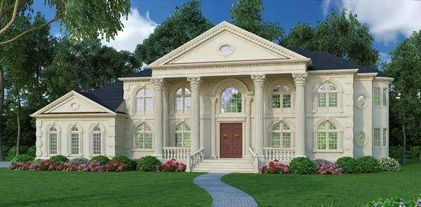 Vinius 8079 5 bedrooms and 4 baths the house designers for Palladian style house plans