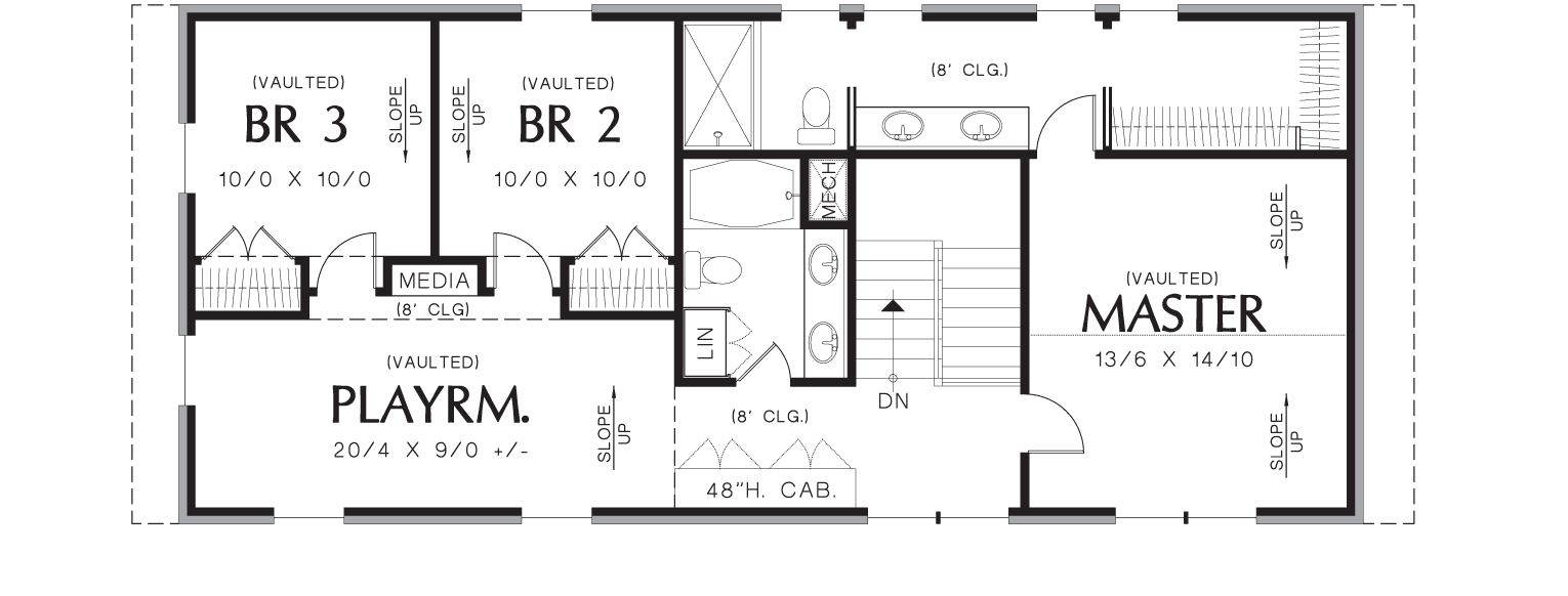 Thomaston 3152 4 bedrooms and 3 baths the house designers for Commercial building blueprints free