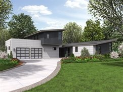 image of oakboro house plan - Small Modern House Plans