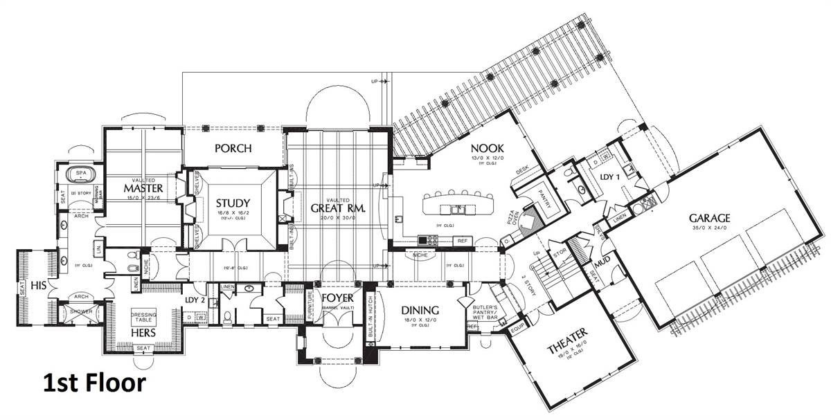 Hamilton-1st-fl-FP Hamilton House Plans on
