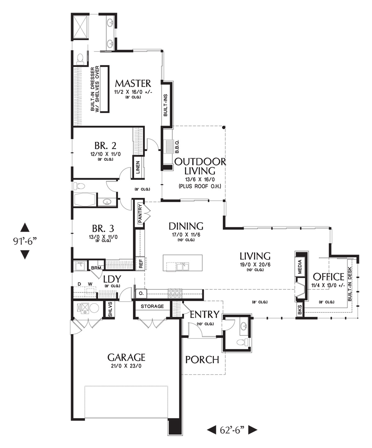 Main FLoor Plan image of 3rd Place 2012 ENERGY STAR House Plan