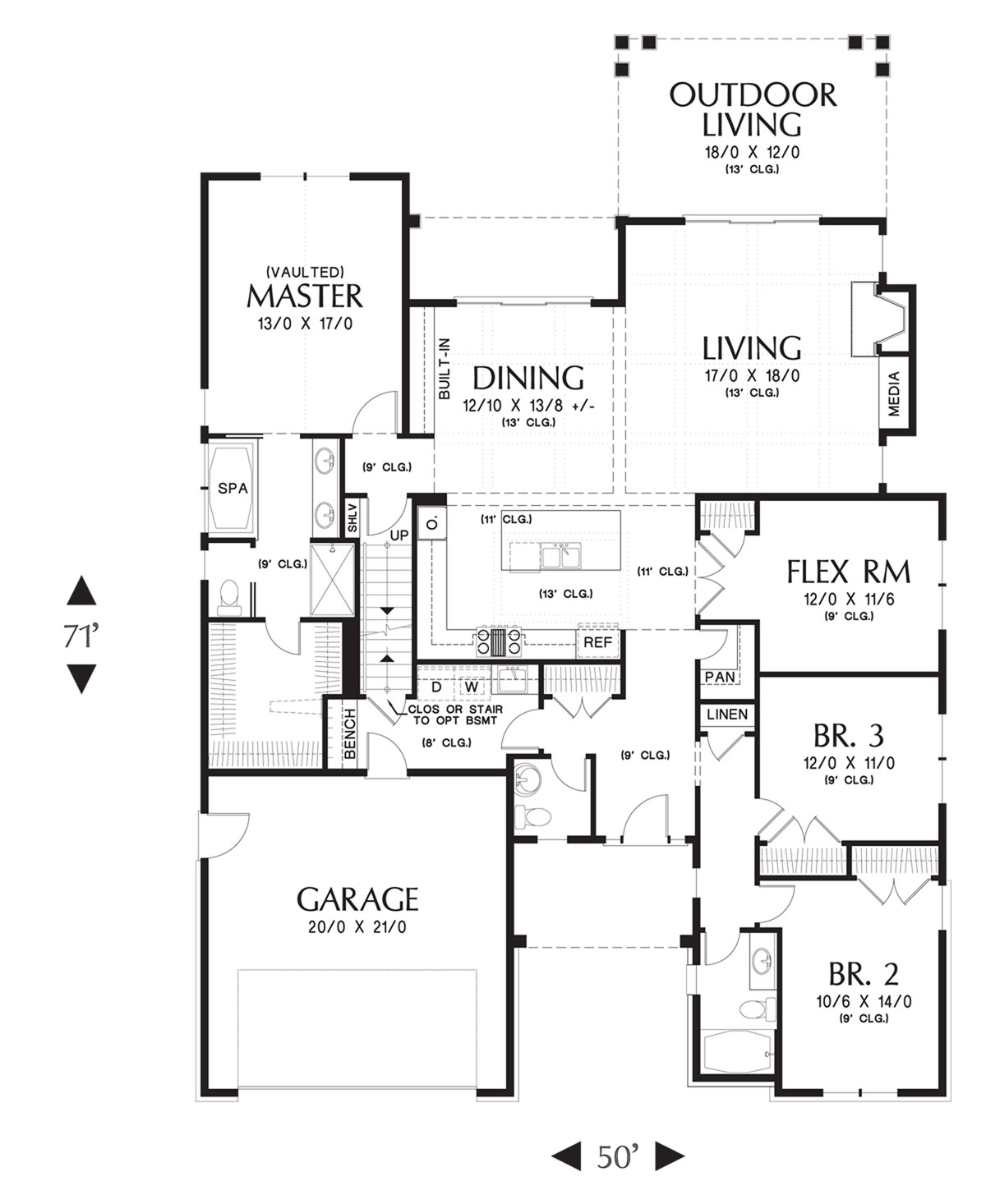 Main FLoor Plan image of Cotswolder House Plan
