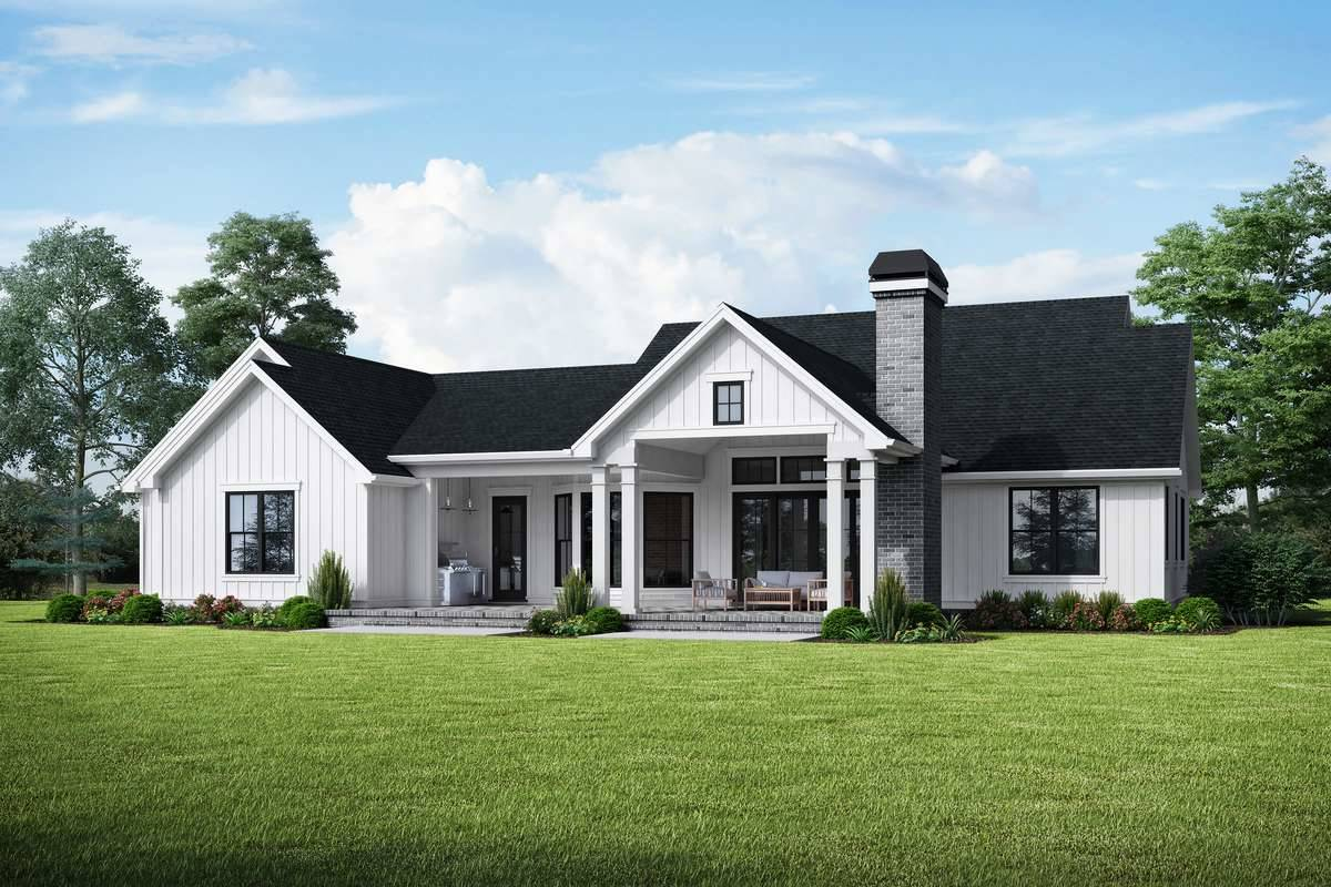 Plan 4680 - Rear Rendering