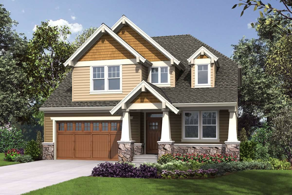 5529 front rendering 8651 - 15+ House Plans Two Story With Basement  Images