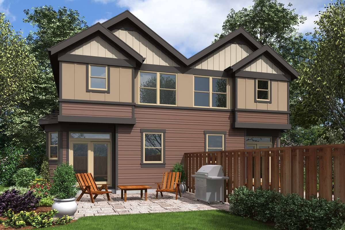 Plan 5582 - Rear Rendering