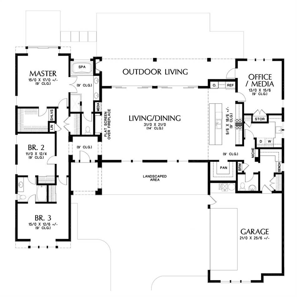 Plan 5583 - Main Floor Plan
