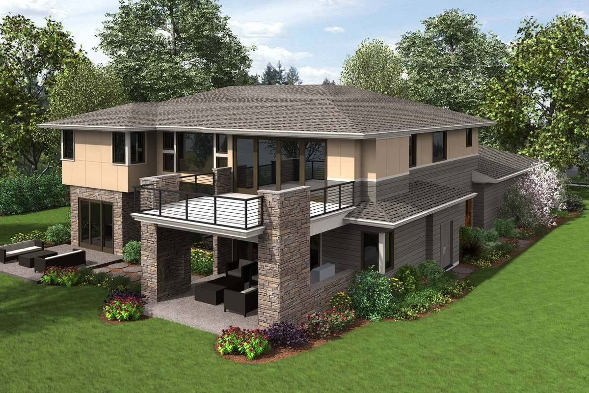 Plan 6057 - Rear Rendering