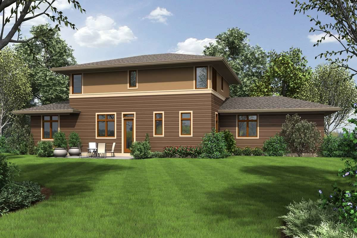 Contemporary Style House Plan 6070 Clinton