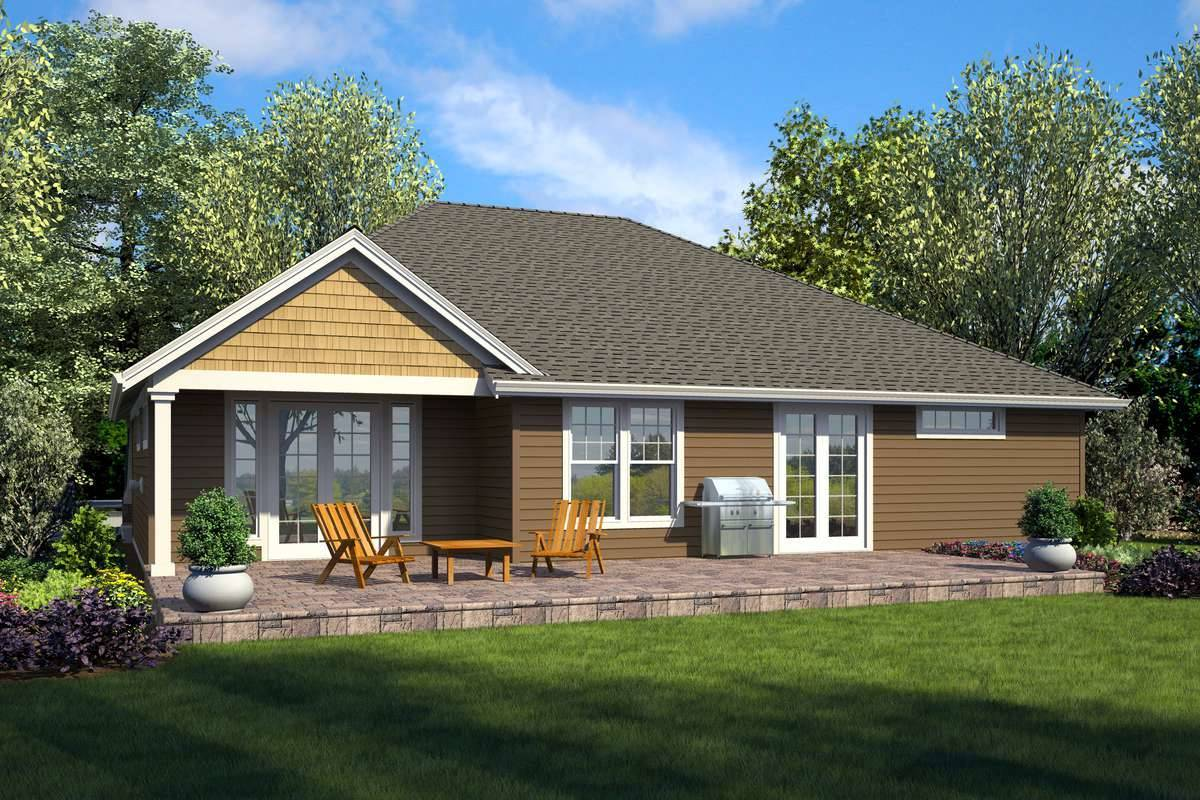 Plan 7241 - Rear Rendering
