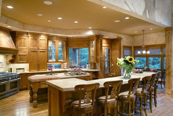luxury rustic kitchen house plan