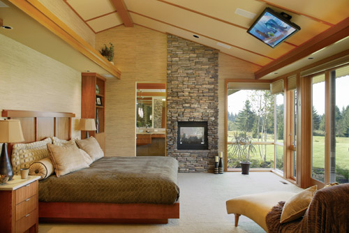 Keswick 6774 5 bedrooms and 5 baths the house designers for Ideal height for tv in living room