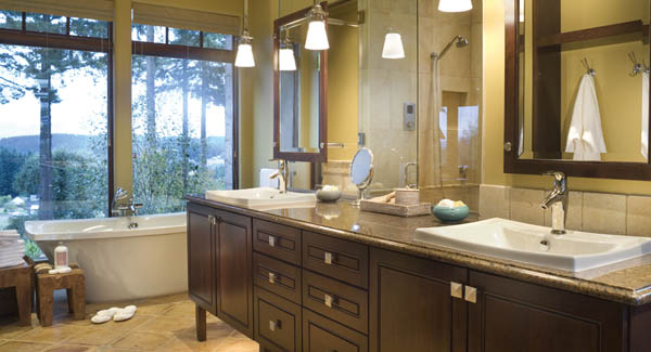 This house plan is ENERGY STAR  approved and features one of the most gorgeous green bath designs  Enjoy a great view while relaxing in the hot tub with an. Inspiring Spa Like Bath Designs   The House Designers