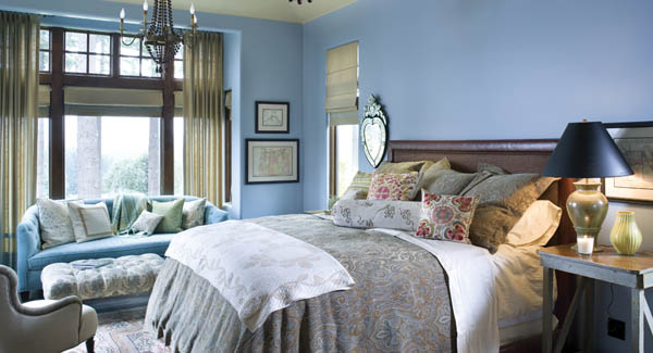 Our Terrebonne House Plan Uses Gorgeous Neutrals Throughout The Home As  Well As Benjamin Mooreu0027s® Williamsburg Wythe Blue In The Bedroom.