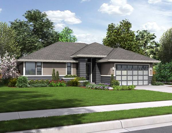 Palmer 3087 2 bedrooms and 2 5 baths the house designers for Modern ranch home plans