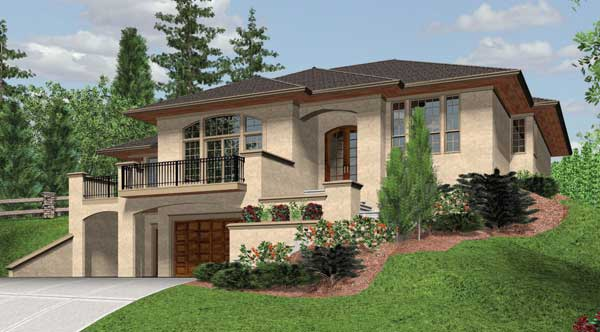 Rockland 2450 3 bedrooms and 2 baths the house designers for Split level house plans with walkout basement