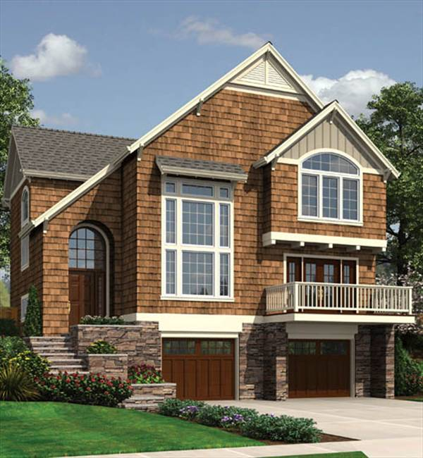 Plainville 2511 3 bedrooms and 2 baths the house designers - House plans with garage below ...