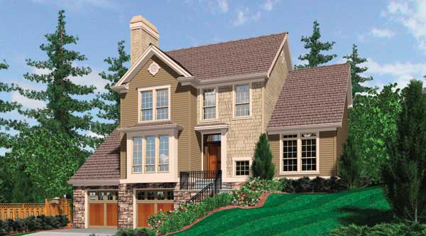 top house plans for sloping lots. The Hillview house plan includes a daylight basement foundation  Built to accommodate sloping lot this s top two floors provide comfortable Benefits of Daylight Basement House Designers