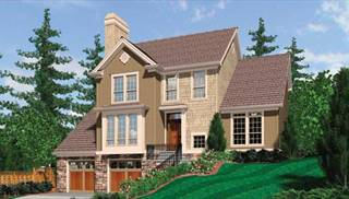 Drive Under House Plans  Ranch Style Garage Home Design   THDimage of Levant House Plan