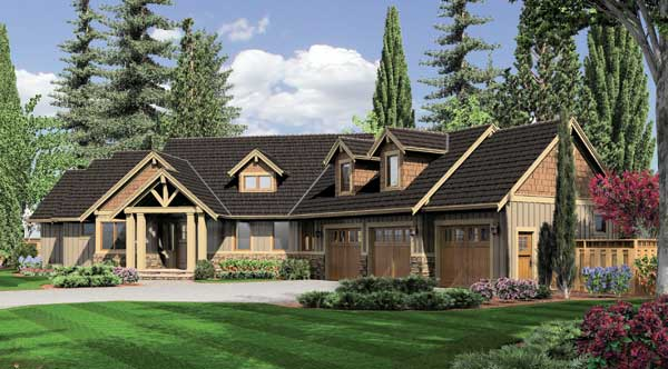 Epic This master suite from the Halstad Craftsman Ranch house plan boasts endless closet space and a luxurious garden spa tub