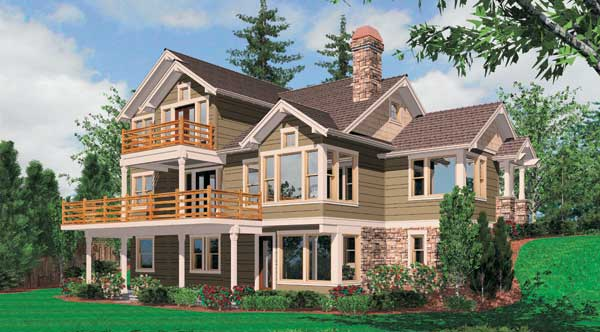 Doncaster 5256 4 bedrooms and 3 baths the house designers for House plans for downward sloping lots