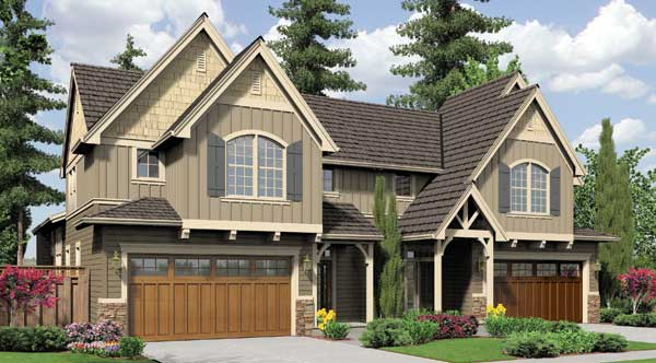 Willington 5897 3 bedrooms and 2 baths the house designers for Single story multi family house plans