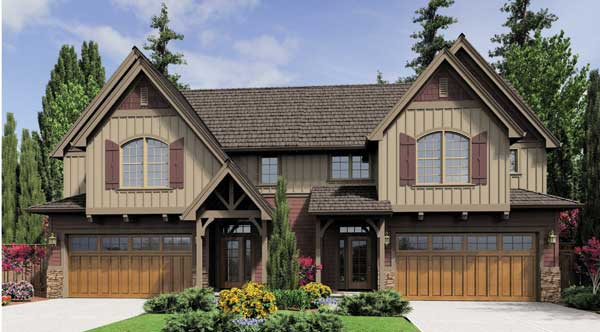 Benefits of a duplex house plan the house designers for Single story multi family house plans