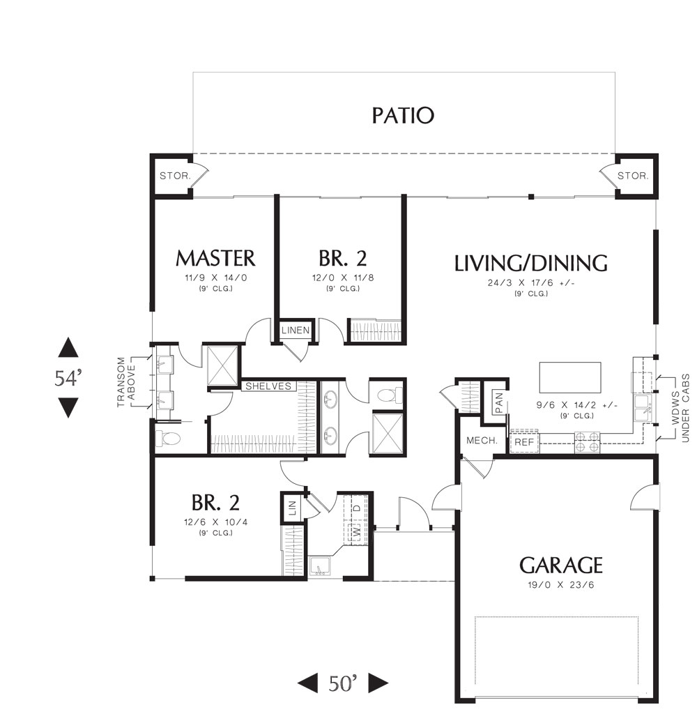 Maynard 4877 3 bedrooms and 2 5 baths the house designers for Small home plans with garage