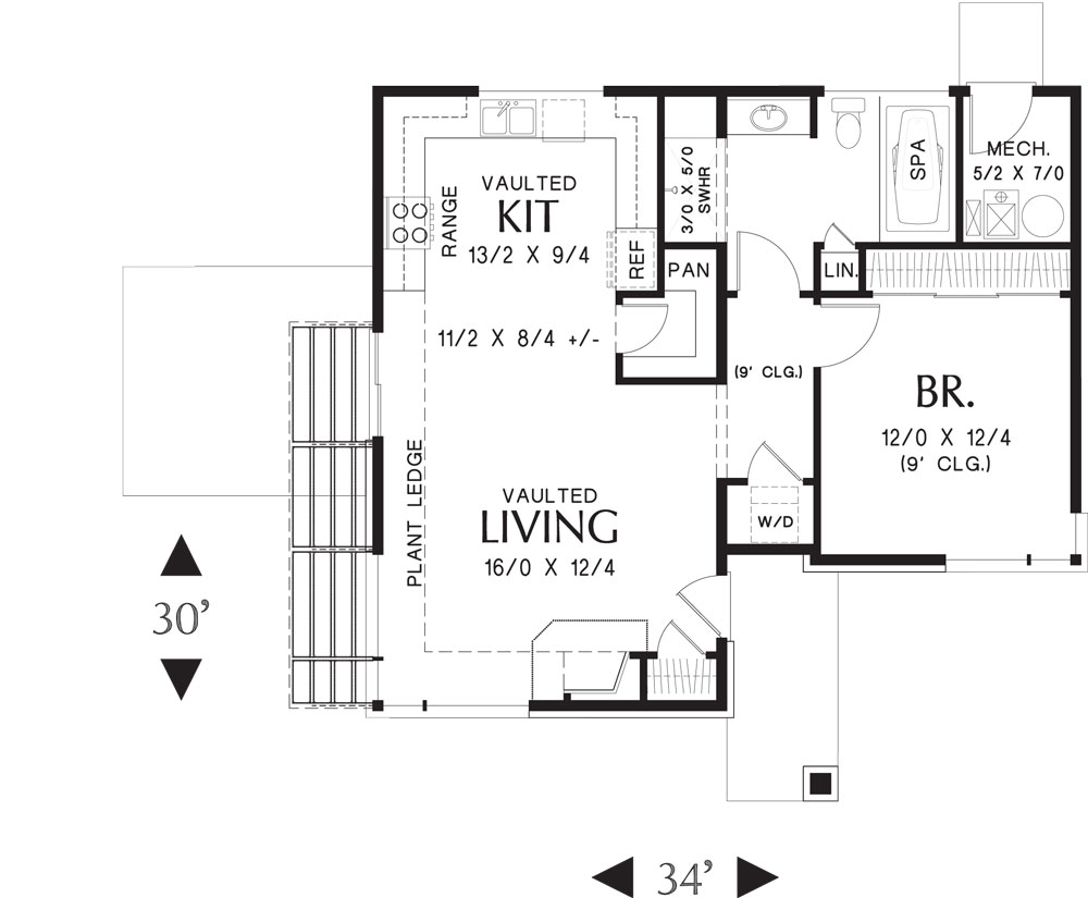 Folkstone 5178 1 bedroom and 1 5 baths the house designers for Floor plans for my house