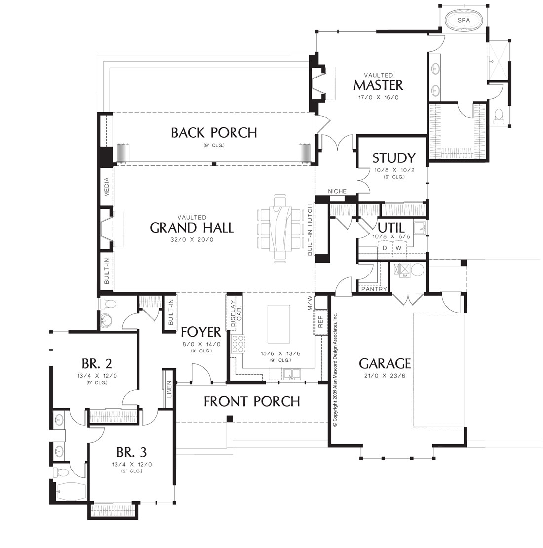 Stanley 1494 3 bedrooms and 2 baths the house designers for Stanley home designs