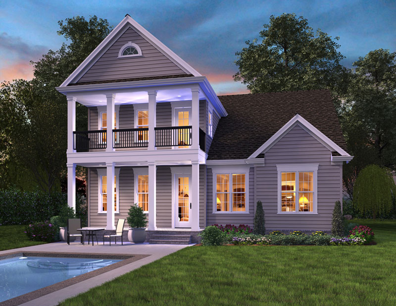 Norfolk 4064 4 bedrooms and 3 baths the house designers for House plans for rear view lots