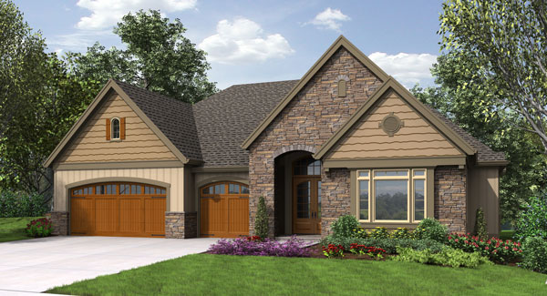 Craftsman House Plan With Walkout Basement