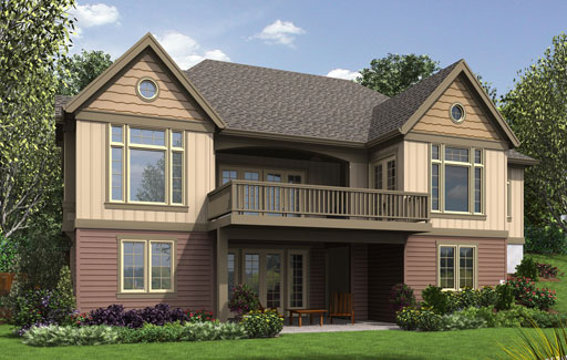 Craftsman house plan with walkout basement for Craftsman house plans with basement