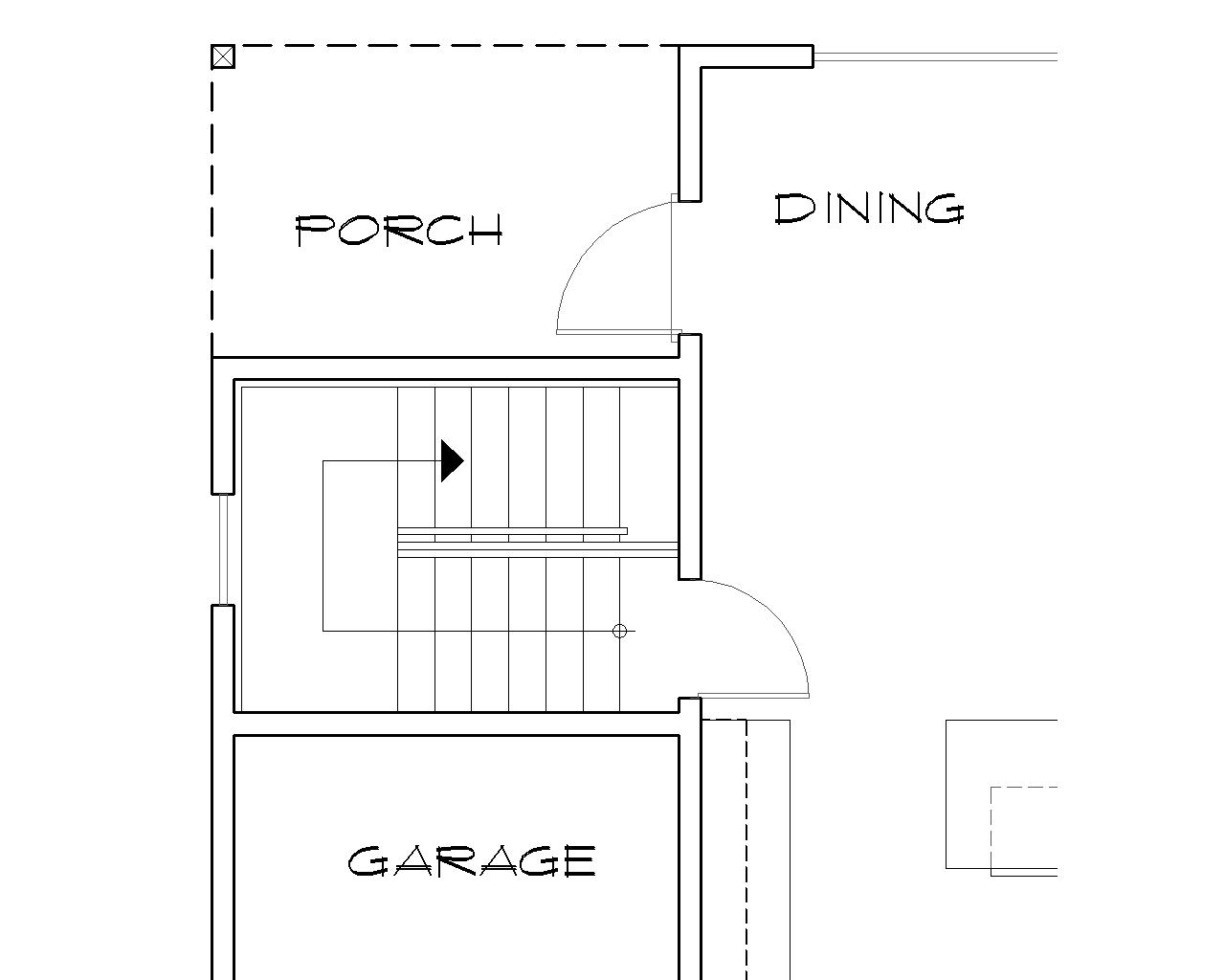 Basement Stair Location image of Morton House Plan