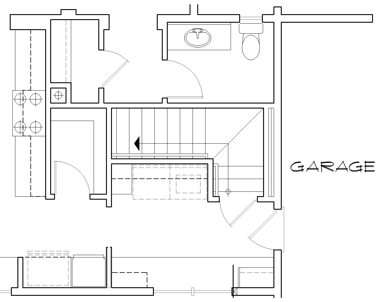 Stair Location for Basement Version image of Alberg Plan