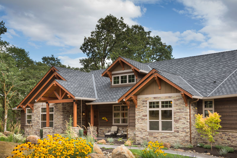 Craftsman one story house plan for Simple rustic house plans
