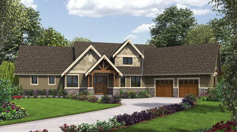 Three Bedroom Craftsman House Plan