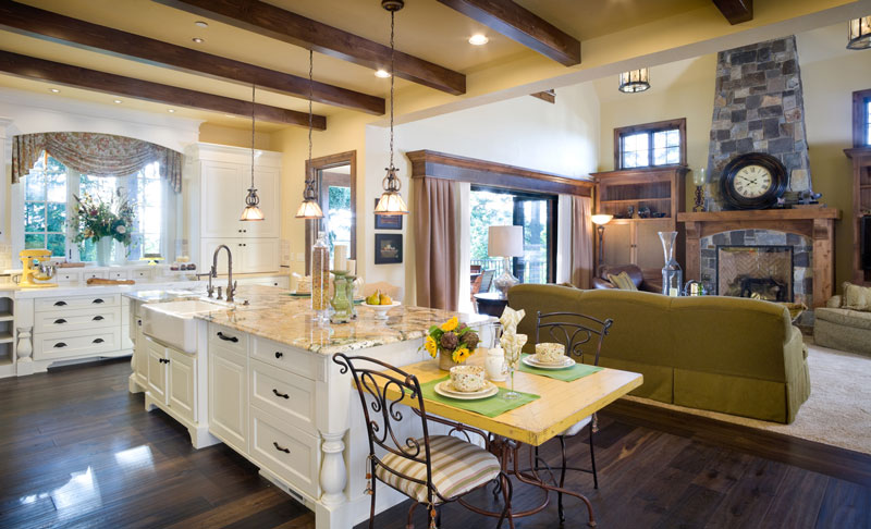 New home designs trending this 2015 the house designers for House plans with big kitchens and hearth rooms