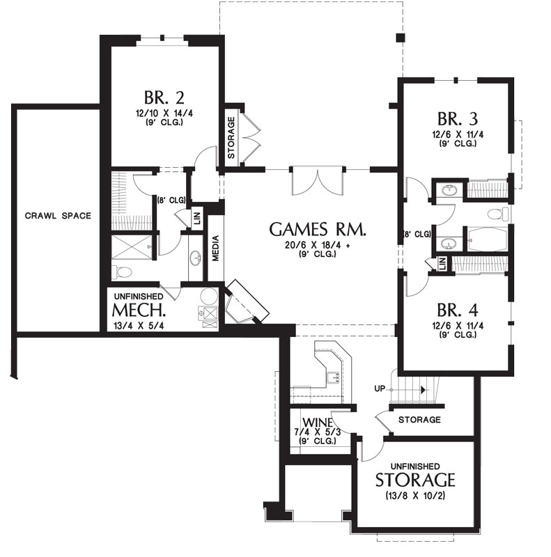 Craftsman house plan with walkout basement for Free craftsman house plans