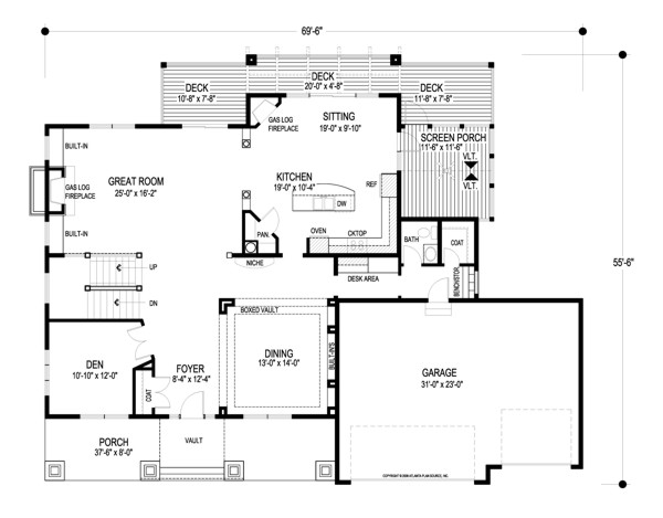 Kensington 8993 4 Bedrooms And 3 Baths The House Designers
