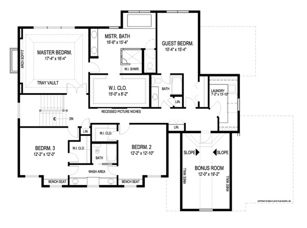 Kensington 8993 4 bedrooms and 3 baths the house designers for Free craftsman house plans