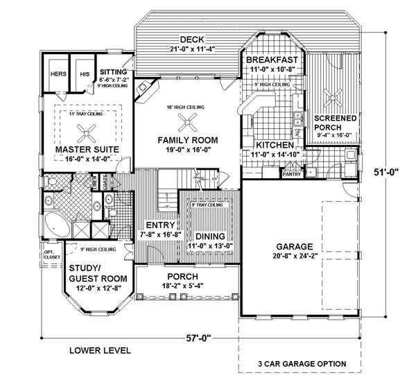 Lower Floorplan image of The DeStio House Plan