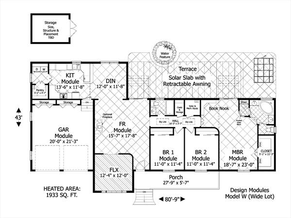Award winning green design 3080 3 bedrooms and 2 5 baths for Award winning floor plans