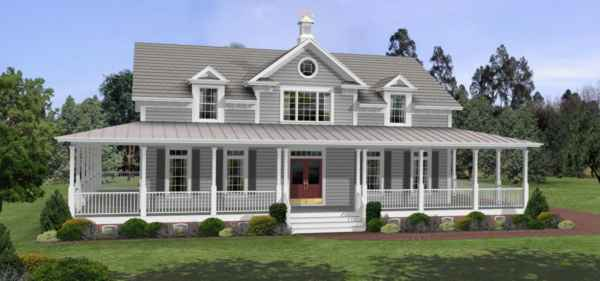 One Story House Plans With Wrap Around Porches