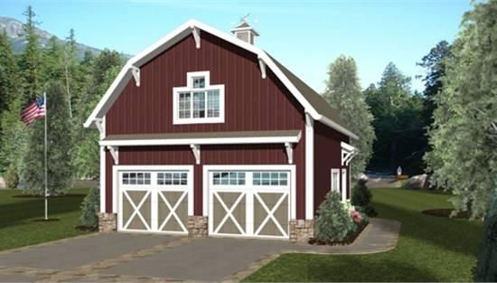 Ranch Style Garage Plan 3157 The, Barn Style Garage Plans