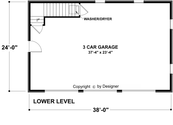 Garage Level image of Hudson Carriage House House Plan