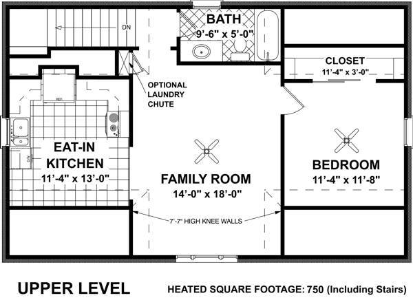 Hudson carriage house 7124 1 bedroom and 1 5 baths the for Floor plans 750 square feet