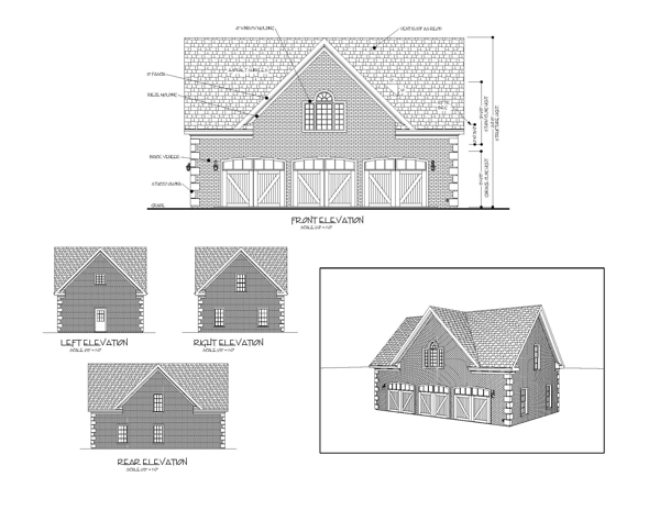 All Elevations image of Hudson Carriage House House Plan