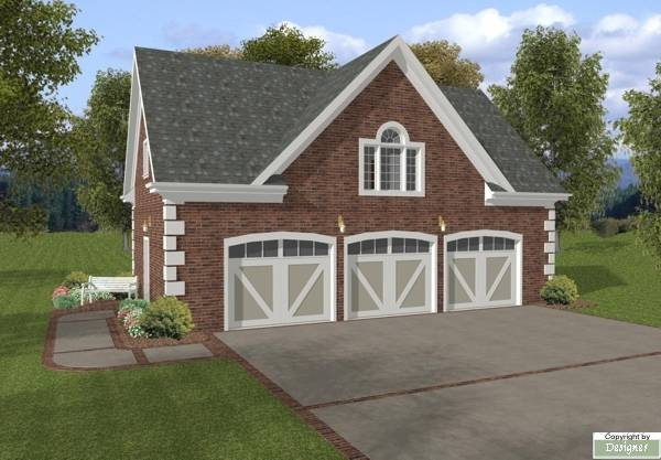 Hudson carriage house 7123 1 bedroom and 1 5 baths the for Live above garage plans