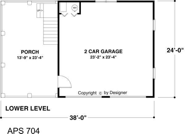 Lower Level Floorplan image of The Charleston Carriage House