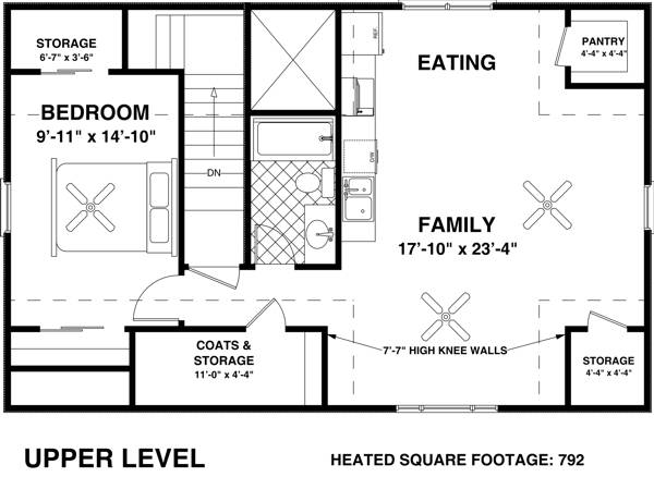 Upper Level Floorplan image of The Charleston Carriage House